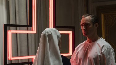 Jude Law as Pope Pius XIII in Paolo Sorrentino's lavish TV series The New Pope
