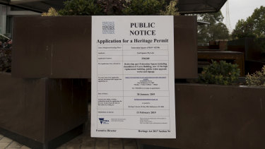 The application for a heritage permit for the Yarra Building at Federation Square.