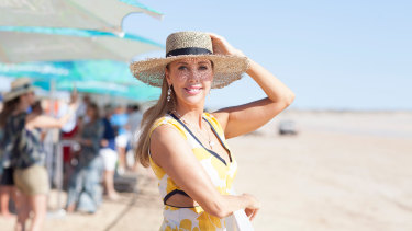 Catriona Rowntree at Cable Beach Polo in Broome.
