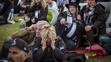 Tears at the Holden Centre.
