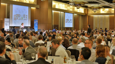 Property industry representatives packed the room to hear the details of the highly anticipated design code.