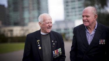 Vietnam veterans Ian McCartney and Greg Cummins 'remember the funny stuff'.