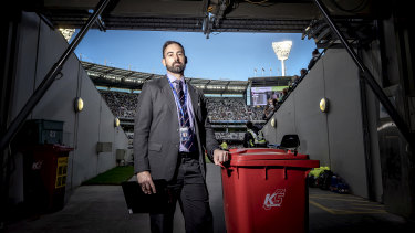 Vince Macolino oversees waste and recycling at the MCG.