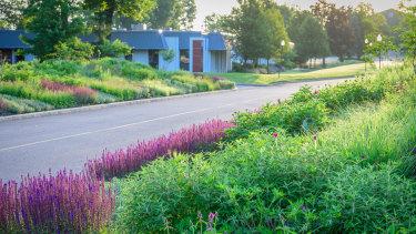 The garden around a corporate centre near Philadelphia, US, designed by Phyto Studio.