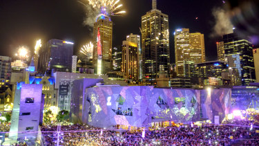 The fireworks in the CBD.