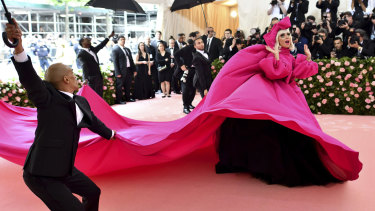 Grand entrance ... Lady Gaga arrives at the Met Gala.