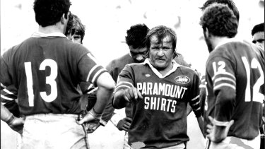 Tom Raudonikis laying down the law playing for Newtown in 1981.