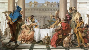 Giambattista Tiepolo, The Banquet of Cleopatra,1743-1744 (detail).