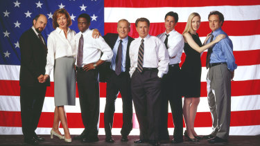 The cast of The West Wing.