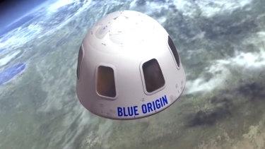 The Blue Origin capsule.