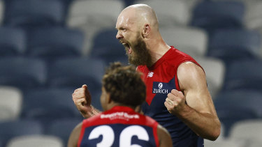 Max Gawn booted the winning goal after the siren as the Demons staged an inspiring last-quarter fightback.