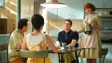 Murder Means Never Having to Say You're Sorry: Sam Jaeger as Rob; and Ginnifer Goodwin as Beth-Ann.