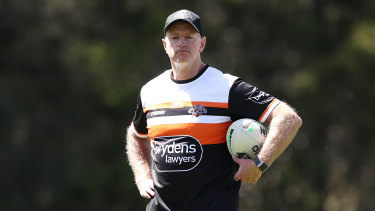 Two more years ... Michael Maguire will remain at the Wests Tigers until at least 2023.