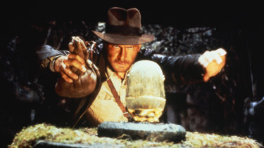 Harrison Ford as Indiana Jones in <i>Raiders of The Lost Ark</i>.
