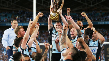 Under a cloud: The Sharks were found to have cheated the salary cap following their 2016 premiership.