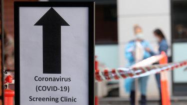 A screening clinic in Melbourne.