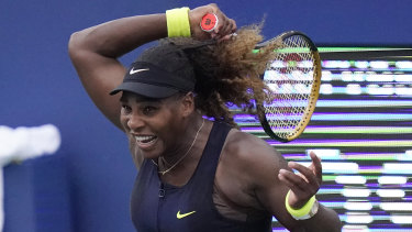 Serena Williams during last year's US Open.