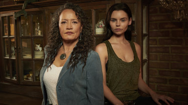 Rena Owen and Eline Powell, two of the stars of  mystery-thriller series, Siren.