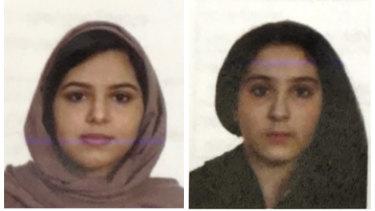 Saudi sisters Rotana, left, and Tala Farea were found dead in New York.