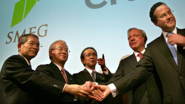 Steve Volk (second from right), advised the last three Citi CEOs.