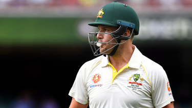 Aaron Finch was dropped for the Sydney Test.