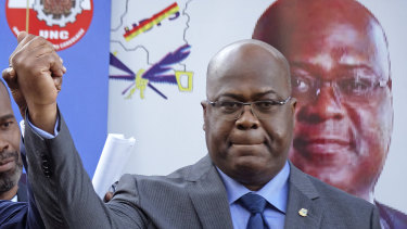 Incoming Congolese president Felix Tshisekedi, pictured in November, is alleged to have done a deal with Joseph Kabila.