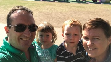 Alissa Gordon, right, with husband Mark and their children Asher and Jonty.