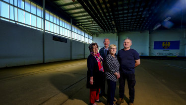 Furlan Club members (from left) Ana Scodella, Lidio Bidinost, Betty Pase and  Peter Mussolini.