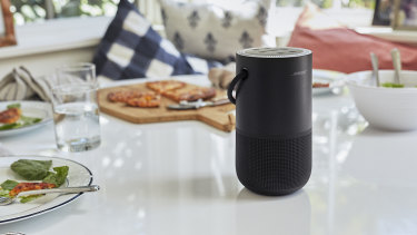 The Bose Portable Home Speaker works with Google Assistant, but not Google music services.