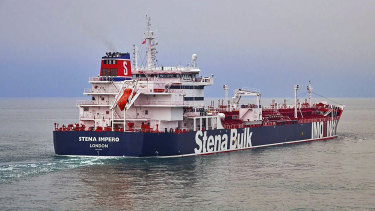 The British oil tanker Stena Impero seized by Iran on Friday.