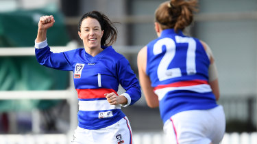 Brooke Lochland starred in Footscray's VFLW win.