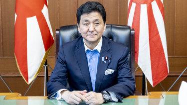 Japanese Defence MinisterNobuo Kishi.