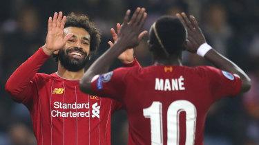 Liverpool's Mohamed Salah and Sadio Mane.
