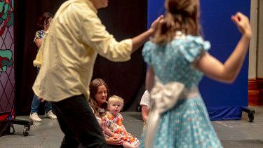 Families attending Baby Bilby Sings, opera for babies in Carlton.