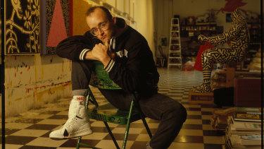 Keith Haring in his Broadway studio.