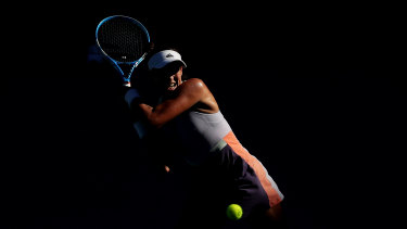 Garbine Muguruza of Spain plays out of the shadows in her semi-final win over Simona Halep of Romania.