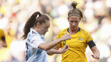 Driven: Midfielder Elise Kellond-Knight is ready for the Matildas' crunch clash with Brazil.