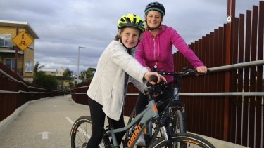 Melbourne-based Nicole Adamson with her 10-year-old daughter Kailani Adamson.