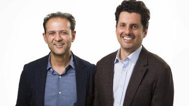Founders of UK challenger bank OakNorth, Rishi Khosla and Joel Perlman