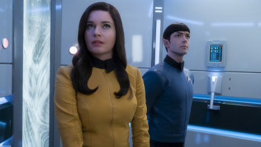 First look: Rebecca Romijn and Ethan Peck as Number One and Mr Spock in Short Treks.