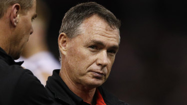 St Kilda coach Alan Richardson is under pressure, but under the circumstances has done well.