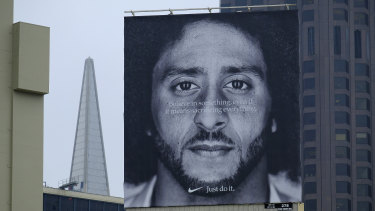 Winning off the field: Colin Kaepernick is the face of a Nike campaign.