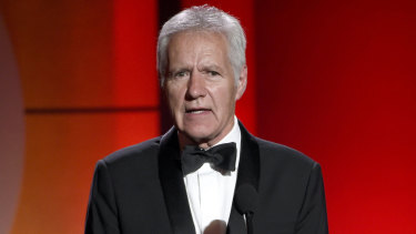 Alex Trebek at the 44th annual Daytime Emmy Awards in 2017. Trebek has announced he's been diagnosed with advanced pancreatic cancer.