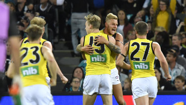 The Tigers upset Port Adelaide earlier this season.