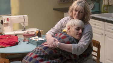 Sarah Lancashire plays Jamie's mum Margaret in the film, which is based on the musical of the same name.