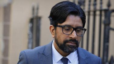 Kulwinder Singh outside court last month.