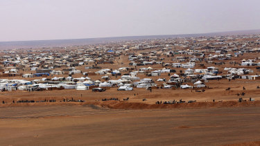 The Rukban refugee camp, which has been without humanitarian support since January.