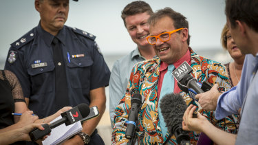 Former City of Port Phillip mayor Dick Gross has his own colourful dress code.