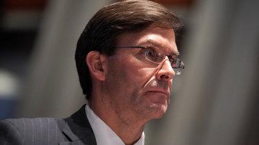 Mark Esper, US Secretary of Defence.