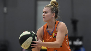 Shyla Heal during her standout campaign with the Townsville Fire.